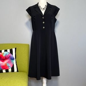 Calvin Klein Navy Blue Fit and Flare Dress 14